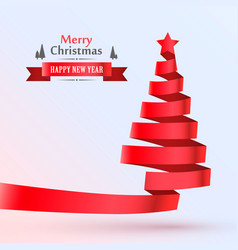 Christmas tree tape design banner vector