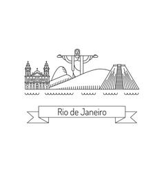 city of Rio de Janeiro vector image