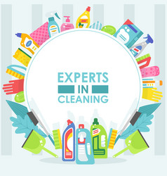 Cleaning service brochure cover template vector