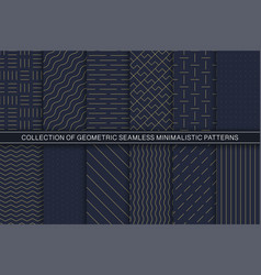 collection geometric seamless vector image