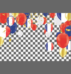 color holiday balloons in traditional colors red vector image