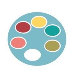 color palette isolated icon design vector image