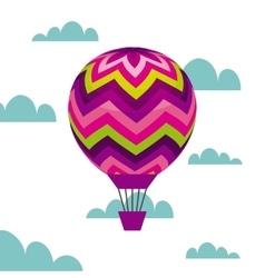 colorful air balloon vector image