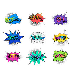 Comic bubble speeches and sounds vector