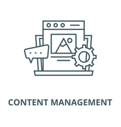 content management line icon content vector image