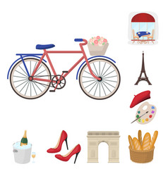 country france cartoon icons in set collection for vector image