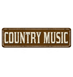 Country music vintage rusty metal sign vector