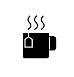 cup with tea icon black sign vector image