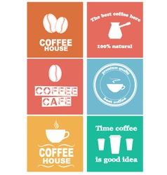 Design coffee 2 vector image