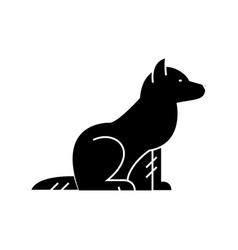 dog icon sign on isolate vector image