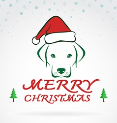 Dog merry christmas vector image