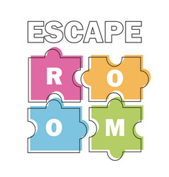 Escape room poster banner on vector