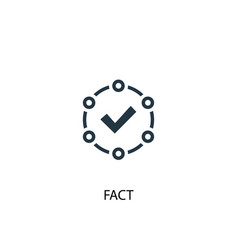 Fact icon simple element vector