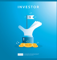 Financial business investor funding concept with vector