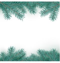 Fir branch border pattern winter holiday vector