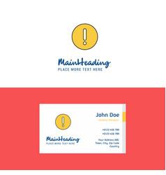 Flat error logo and visiting card template vector