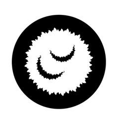 Garden bush isolated icon vector