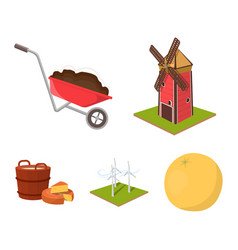 Garden plot ecology and other web icon in vector