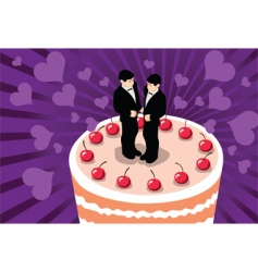 gay wedding cake vector image