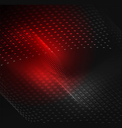 Glowing particles wave design template vector