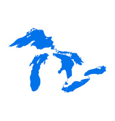 Great lakes map michigan superior vector