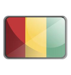 guinea flag on white background vector image