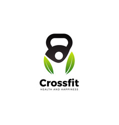 health fit logo design symbol vector image