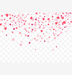 heart confetti falling down valentines day vector image