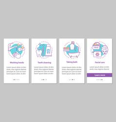 Hygiene onboarding mobile app page screen vector