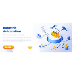 industrial automation - banner layout template for vector image