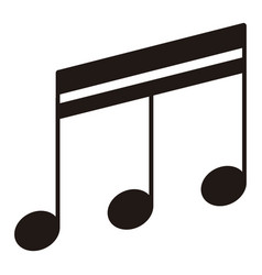 Isolated sixteenth beamed note musical note vector