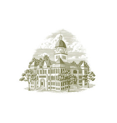 Jasper county courthouse vector