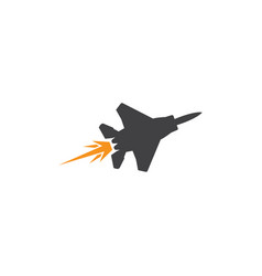 jet plane icon design template isolated vector image