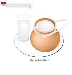 Karewe or Palm Wine A Famous Beverage in Kiribati vector