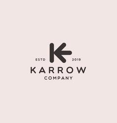 Letter k arrow icon logo design vector