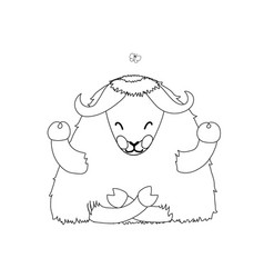 Line cartoon animal clipart vector