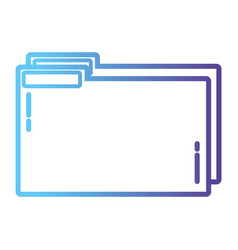 Line folder file to save documents information to vector