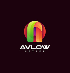 logo letter a gradient colorful style vector image