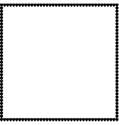 love square photo border made of cartoon black vector image