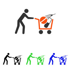medical shopping flat icon vector image