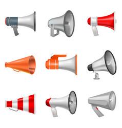Megaphone bullhorn loudspeaker or announce vector