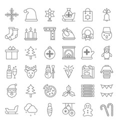 Merry christmas theme set such as snowman santa vector
