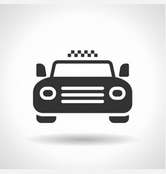 monochromatic taxi icon with hovering effect vector image