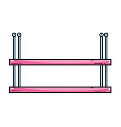 Nice metal shelf style design vector