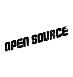 Open source rubber stamp vector