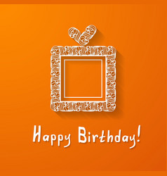 orange background with a gift box vector image