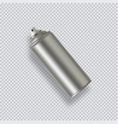 Paint aerosol spray metal bottle can graffiti vector