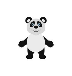 Panda bear icon flat style vector