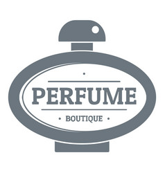 Perfume logo vintage style vector