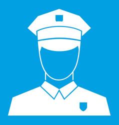 pilot icon white vector image